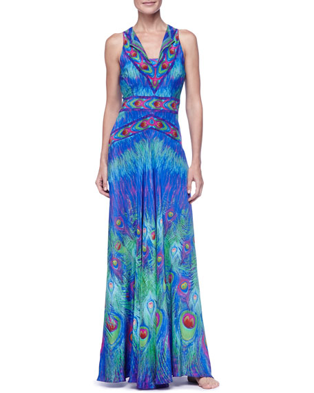 Long Silk Swimsuit Coverup