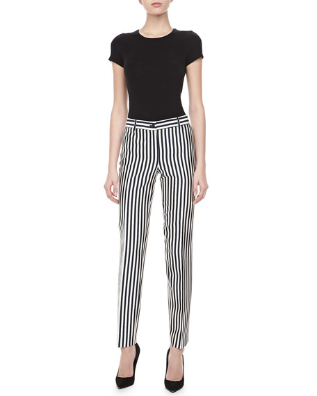 Samantha Striped Shantung Pants