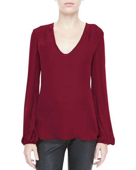 Ruch-Shoulder Silk Blouse