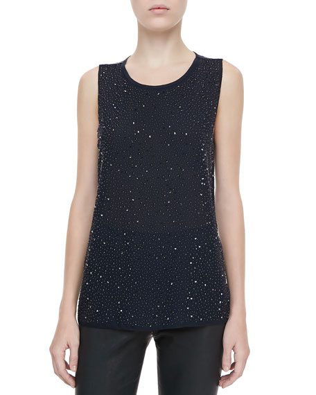 Astral Studded Silk Blouse