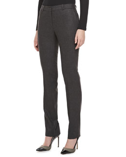 Michael Kors Slim Flannel Trousers, Charcoal
