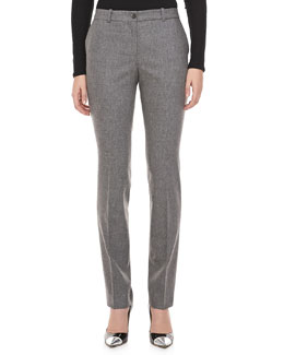 Michael Kors Slim Flannel Trousers, Banker