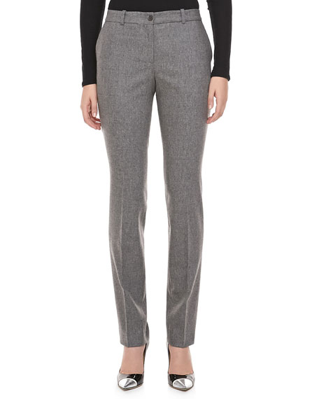 Slim Flannel Trousers, Banker