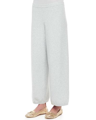 Wide-Leg Knit Pants, Petite