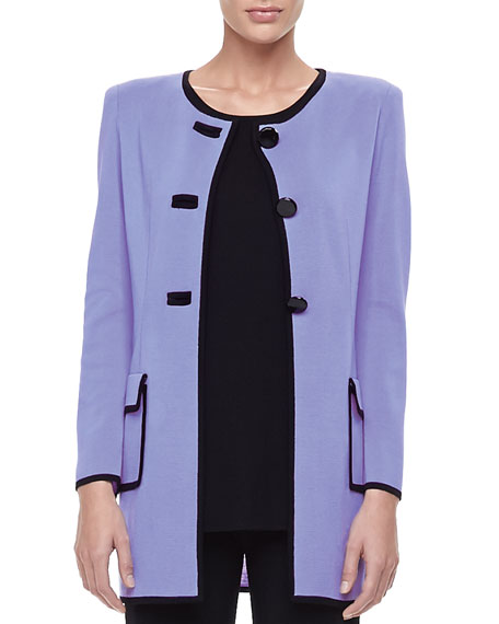 Marcela Long Button-Front Jacket