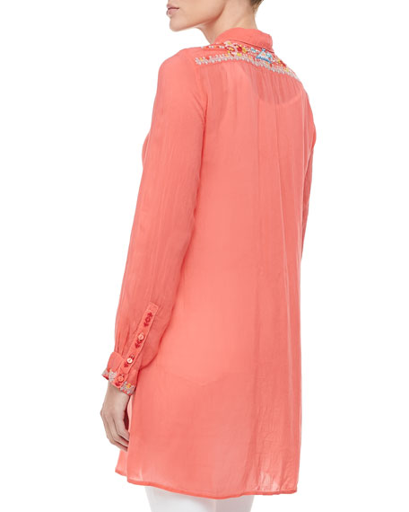 Gloria Embroidered Flower Tunic, Women's