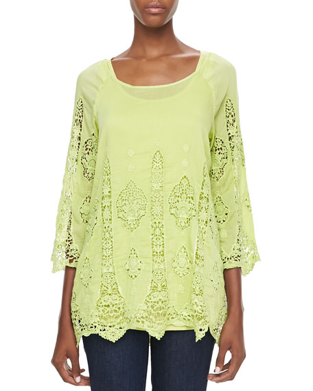 XCVI Kensington Lace/Voile Top, Women's
