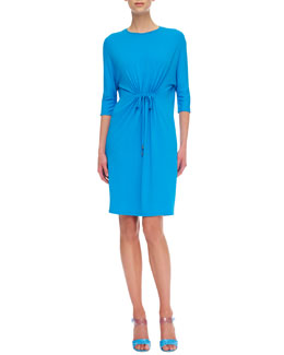 Michael Kors  Matte Jersey Tie-Waist Dress