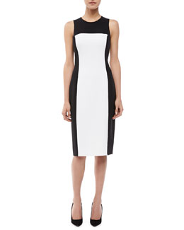 Michael Kors Sleeveless Colorblock Sheath Dress