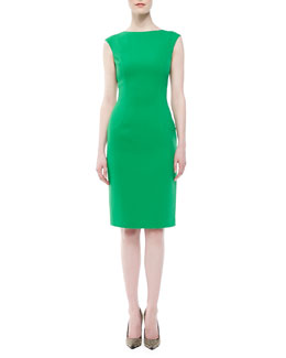 Michael Kors Boucle Cap-Sleeve Sheath Dress