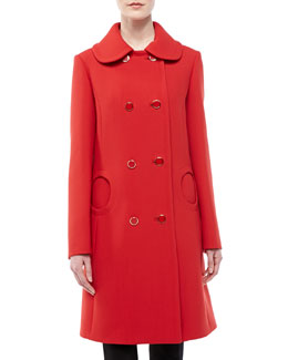 Michael Kors Duvatine Circle-Pocket Coat