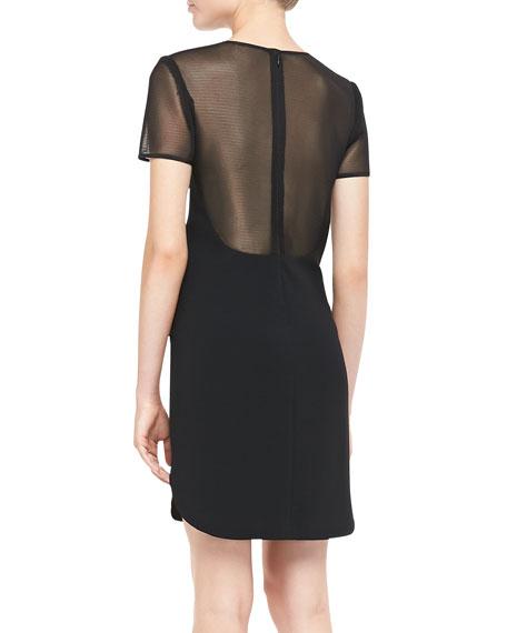 DKNY Short-Sleeve Shirttail Dress