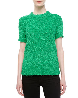 Michael Kors Techno Boucle Knit Top