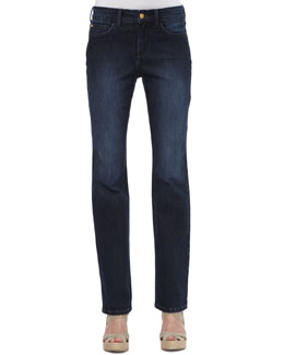 NYDJ Marilyn Tustin Wash Straight-Leg Jeans