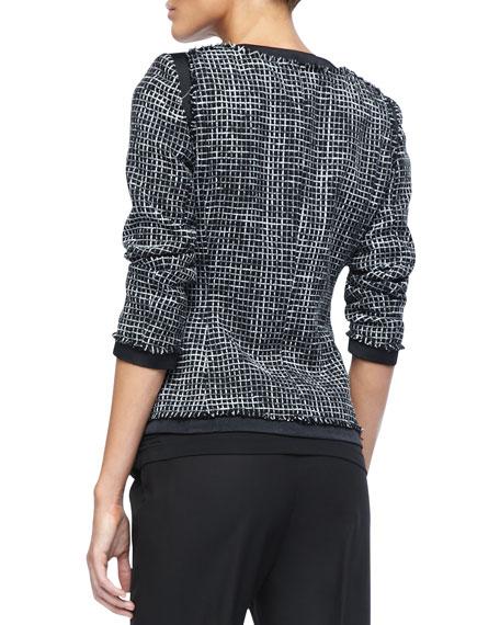 Paulina Two-Tone Print Jacket