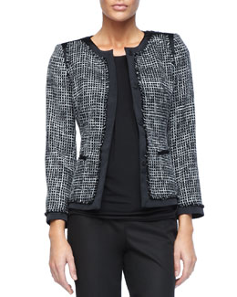 Lafayette 148 New York Paulina Two-Tone Print Jacket