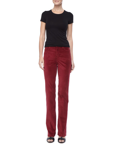 Marilyn Velveteen Straight-Leg Jeans