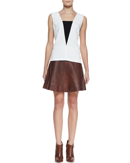 Stevenson Leather Skirt