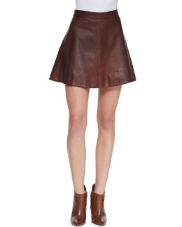 A.L.C. Stevenson Leather Skirt