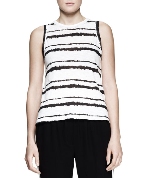 Striped Cotton Muscle Tank Top