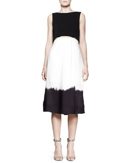 A.L.C. Davie Dipped-Skirt Dress