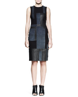 A.L.C. Cold Leather Patchwork Dress