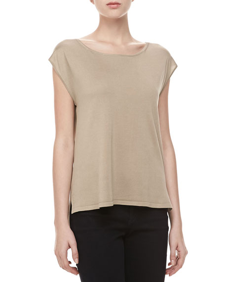 Silk High-Low Top, Hemp