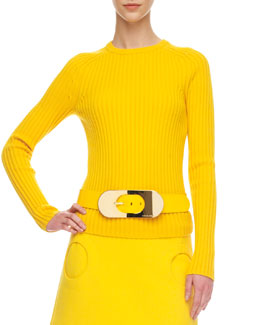 Michael Kors Ribbed Wool Sweater