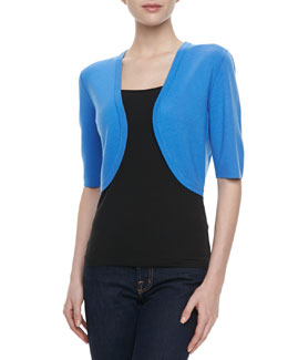 Michael Kors Featherweight Cashmere Shrug, Sea