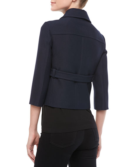 Pressed Twill Cropped Jacket