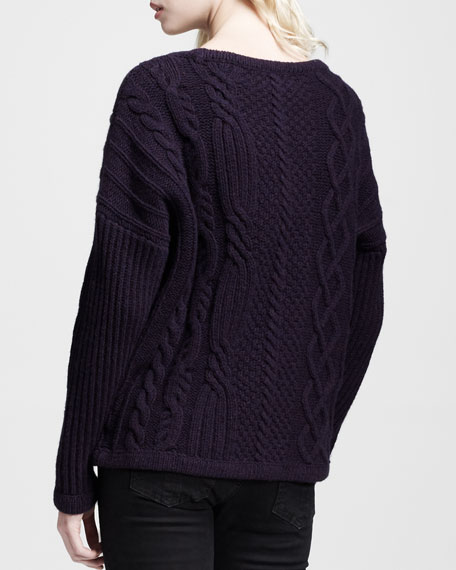 Cara Oversized Cable Pullover