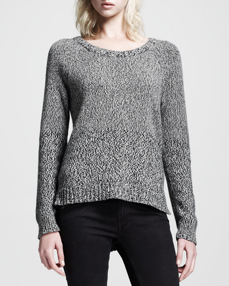 Claire Heathered Knit Pullover