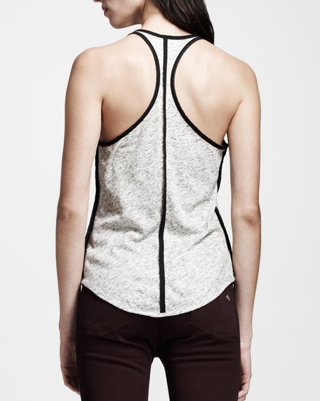 Racerback Heathered Spine Tank