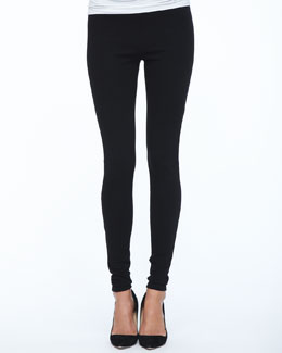 Lafayette 148 New York Stretch Viscose Jersey Leggings