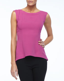Lafayette 148 New York Sheena Sleeveless Silk Top