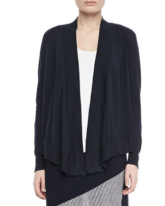 Open-Front Cotton Cardigan, Women's