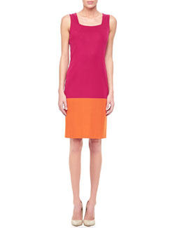Misook Colorblock Sleeveless Dress, Women's