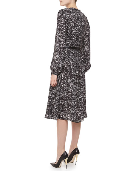 Appaloosa Silk Georgette Printed Dress