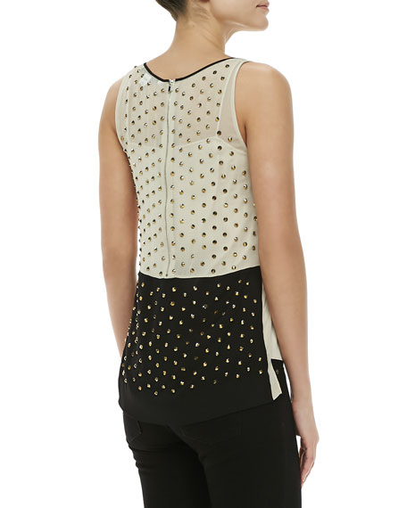Abrielle Crystal-Embellished Top