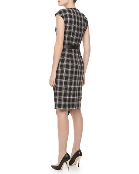 Taos Plaid Wool Dress