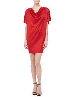 Michael Kors Silk Jersey Draped Dress, Crimson