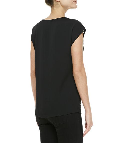 Cordelia Short-Sleeve Lace Top