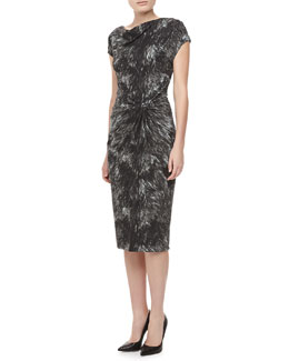 Michael Kors Fox-Print Jersey Dress