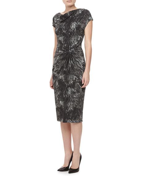 Fox-Print Jersey Dress