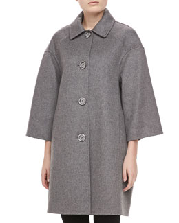 Michael Kors Melange Double-Face Melton Coat