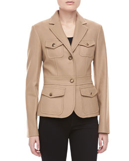 Felted Wool Travel Jacket, Fawn