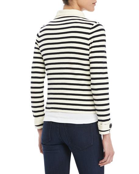 Striped Knit Sailor Blazer
