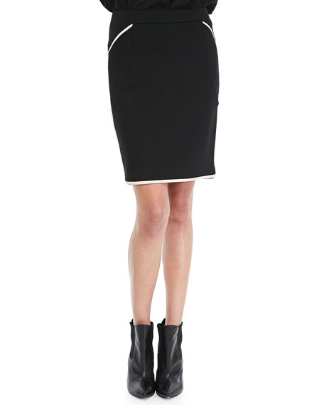Ommbi Contrast-Piping Skirt