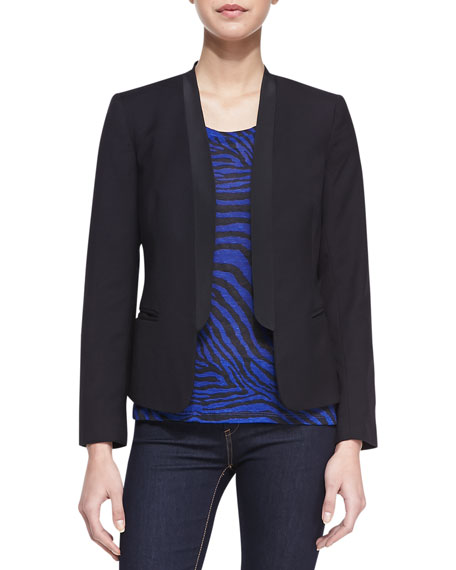 Open-Front Tuxedo Blazer