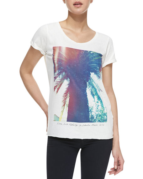 Short-Sleeve Palm Tree Graphic Tee